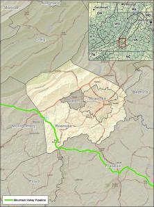 Roanoke County map EQT